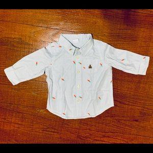 Boys Easter button up shirt